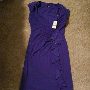 New Nine West Dress Purple Dressy Classy